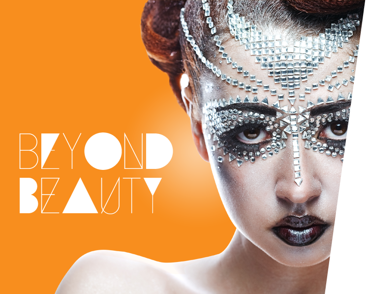 Beyond Beauty ACSM Girl with futuristic makeup